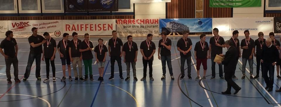 Vaud Handball M15E – 3e et medaille de bronze au championnat suisse