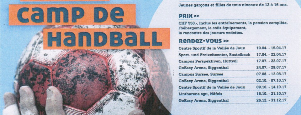 Du handball pendant les vacances … c'est chouette !